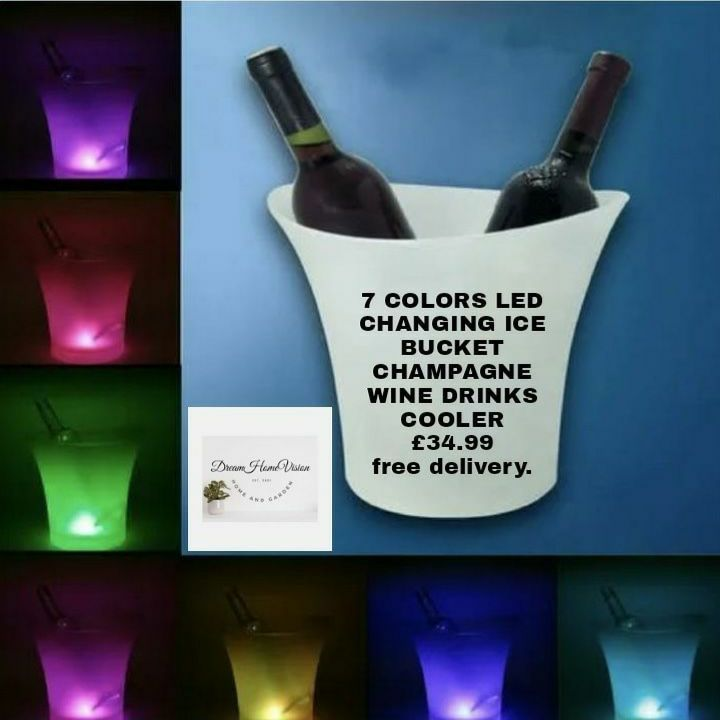 7 COLORS LED CHANGING ICE BUCKET CHAMPAGNE WINE DRINKS COOLER 🍾🍷🥂