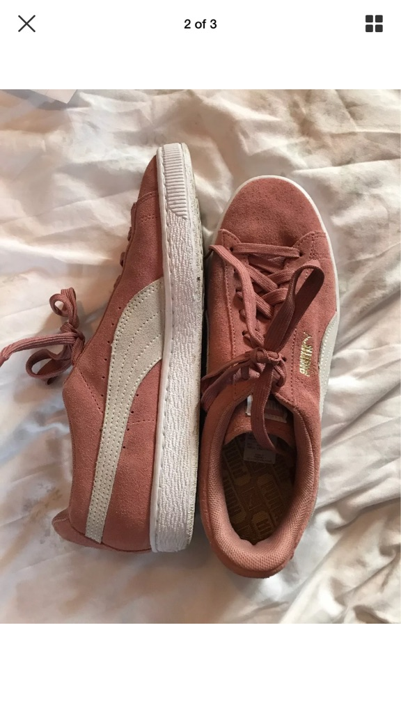 Pink Puma Suede Shoes