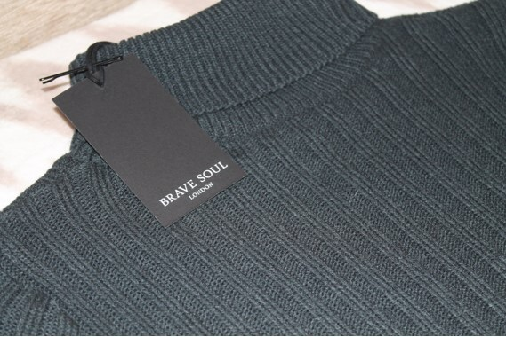 Ribbed blue dress with roll neck (never used still with label)