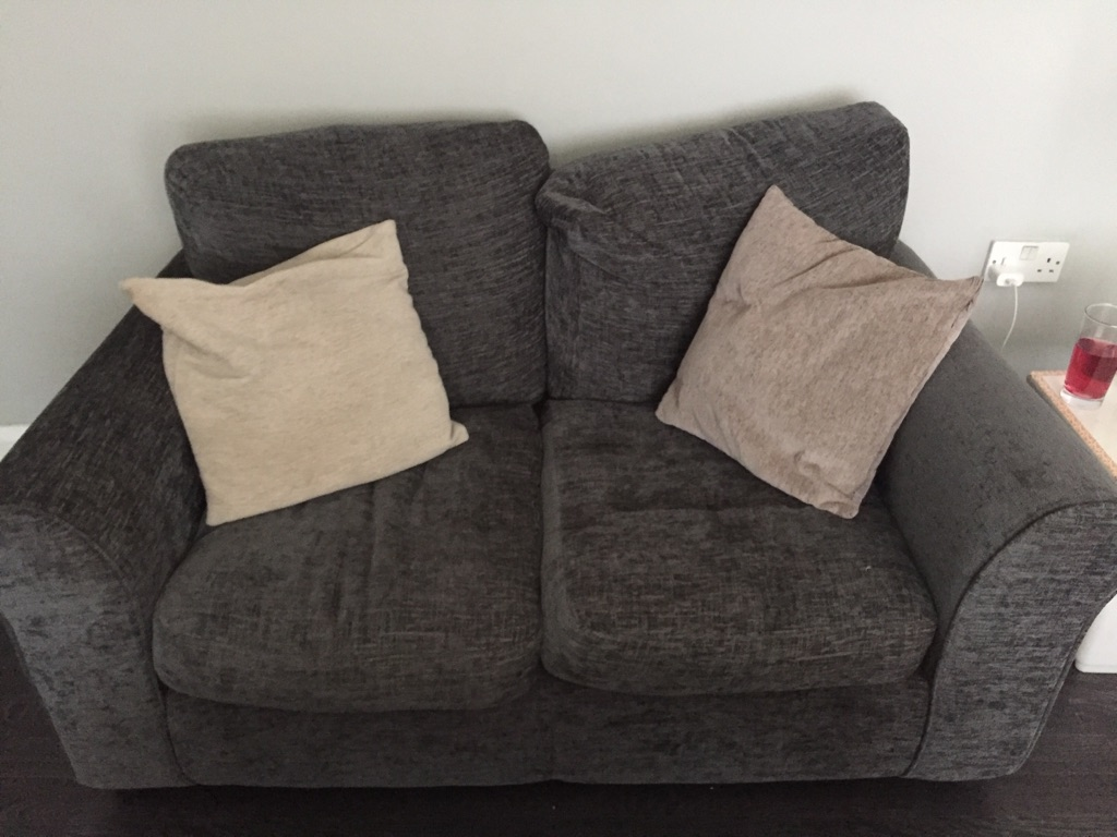 2 seater grey couch