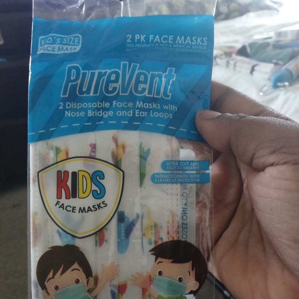 Brand new pure vent kids mask 2 in a pack