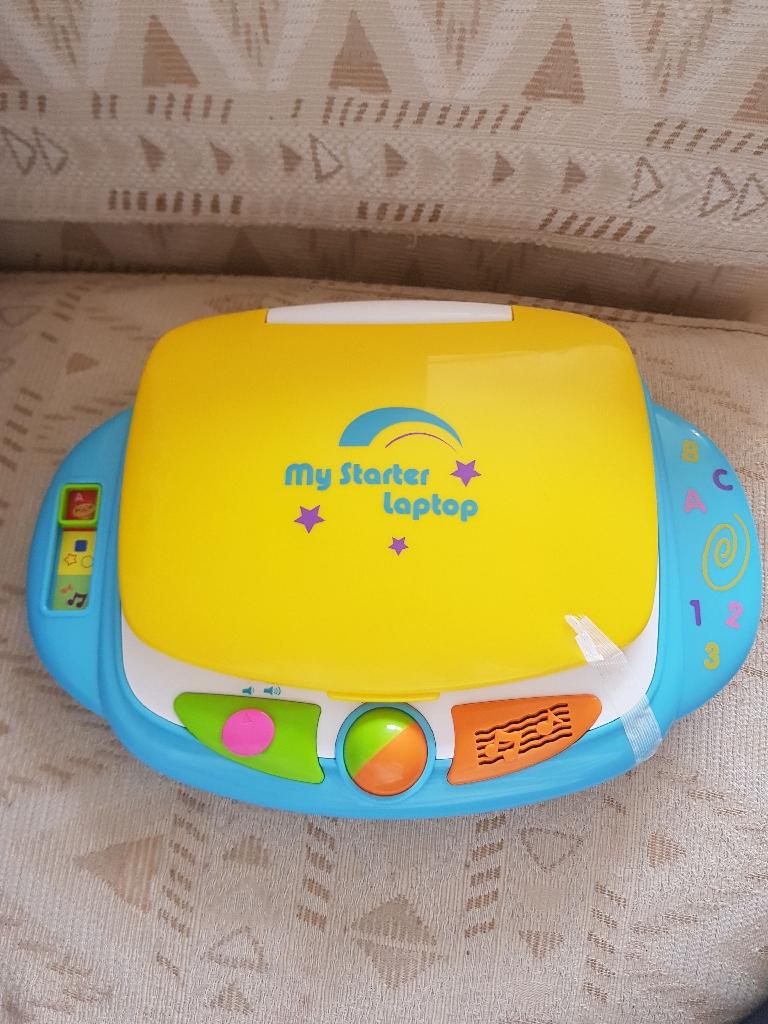 Toddler learning starter laptop