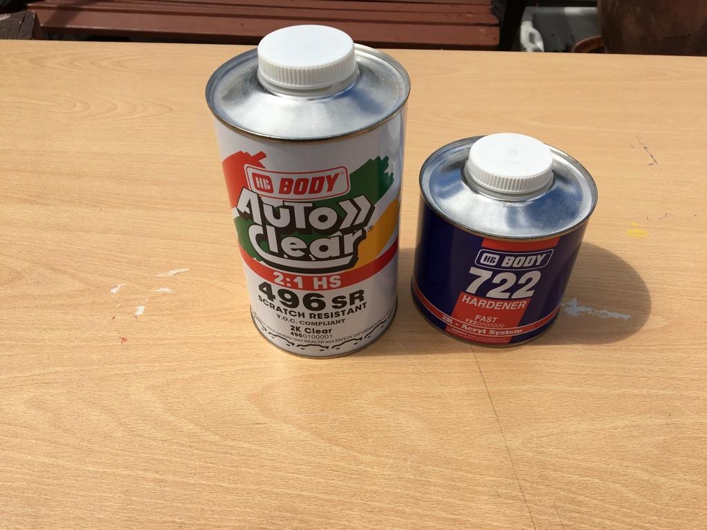 Auto clear 496SR & 722 hardener (brand new)
