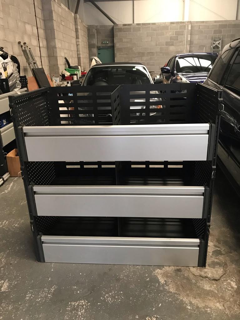 Storage shelving for vans