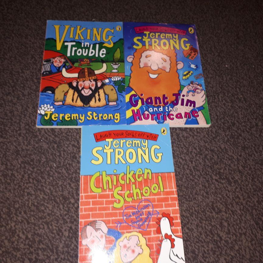 Jeremy Strong books x3