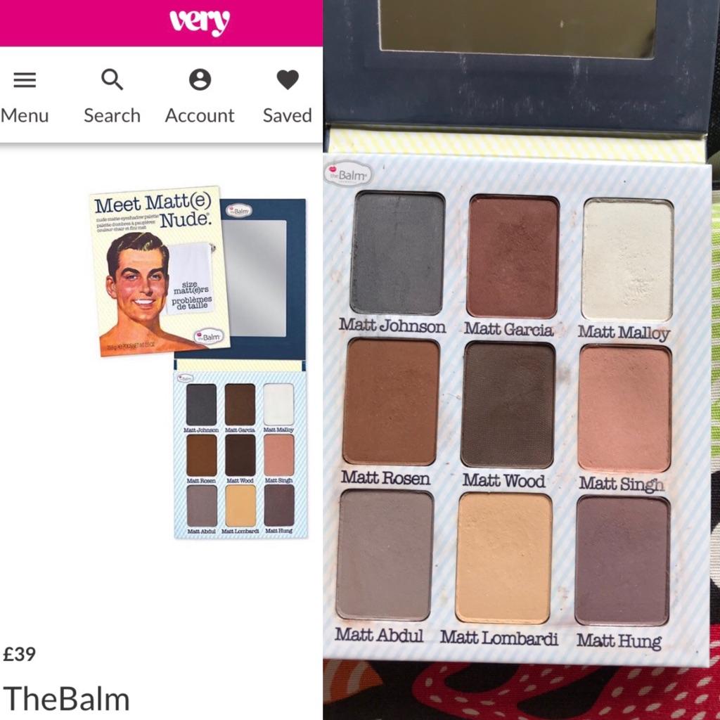 Genuine The balm eyeshadow palettes