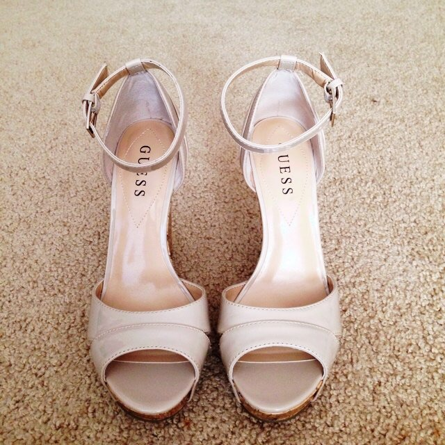 Guess Nude cork wedges US7 UK 4/5