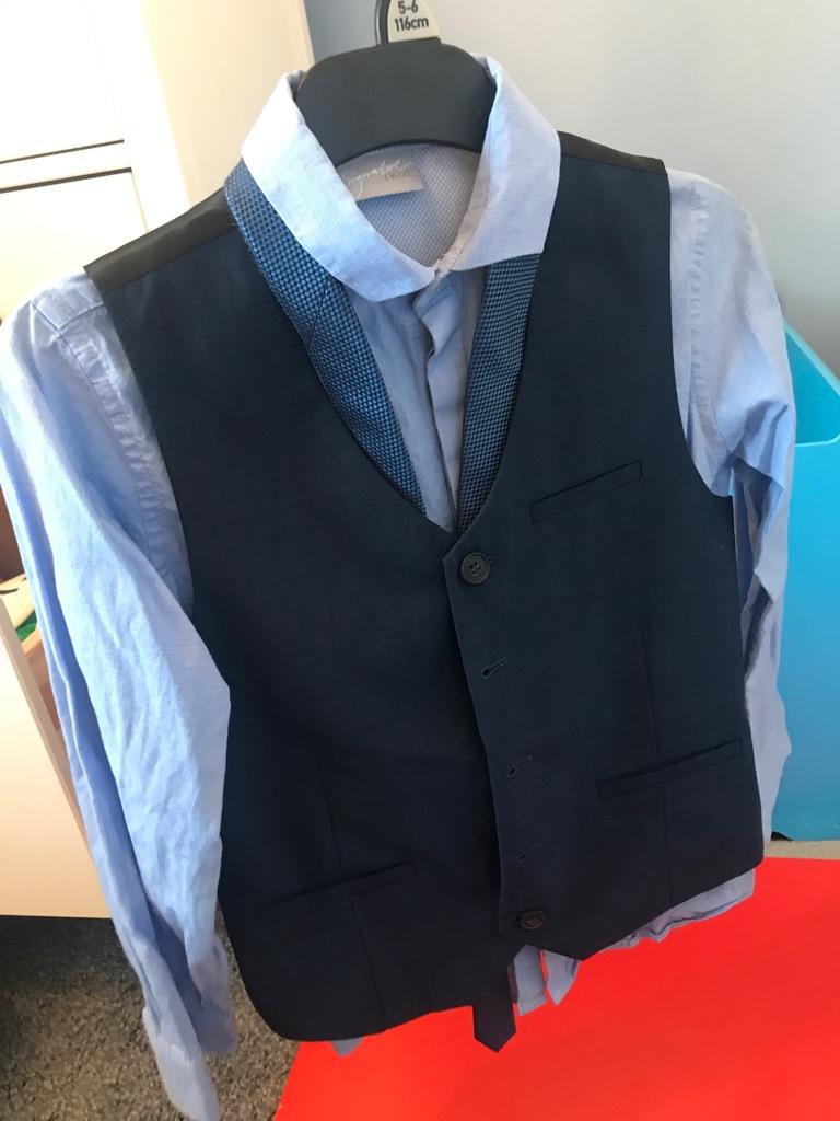 Boys next signature range waist coat, shirt and tie