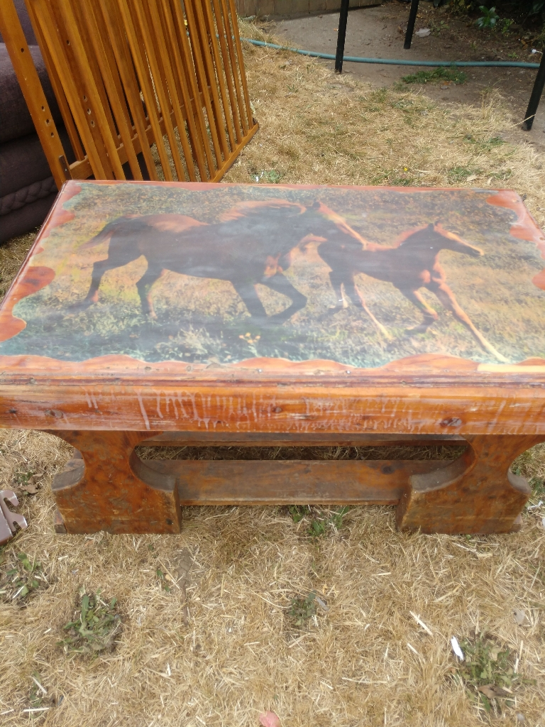Vintage horse table