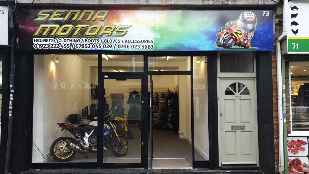Motorcycle and cars repair garage.