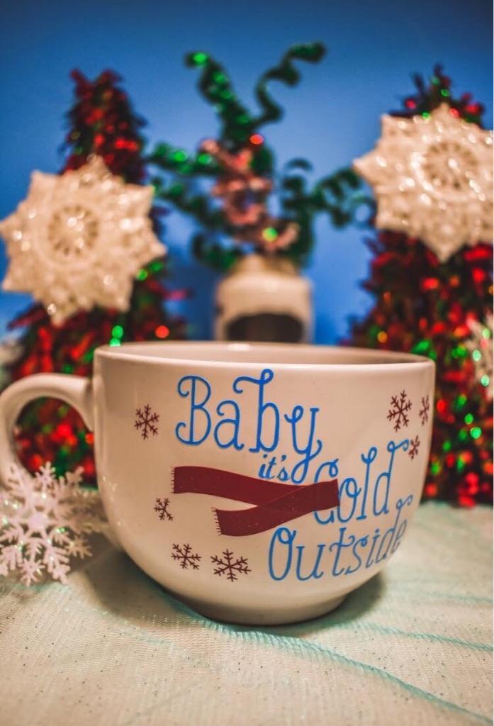 Custom Made Baby Its Cold Outside Mug