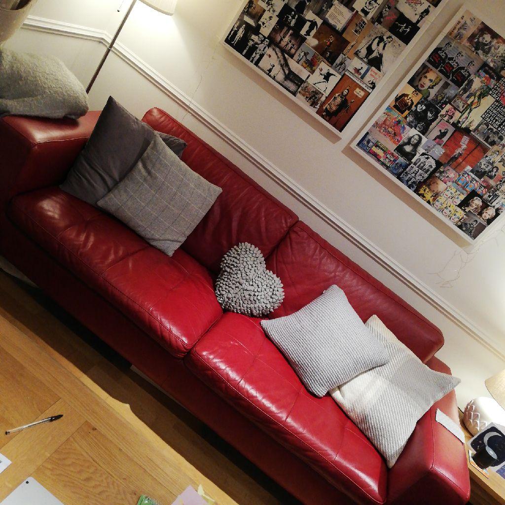 3 Seater Natuzzi Leather Sofa