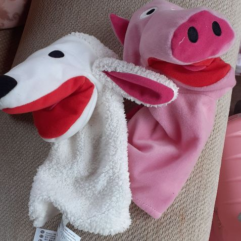 Children's hand puppets in very good condition