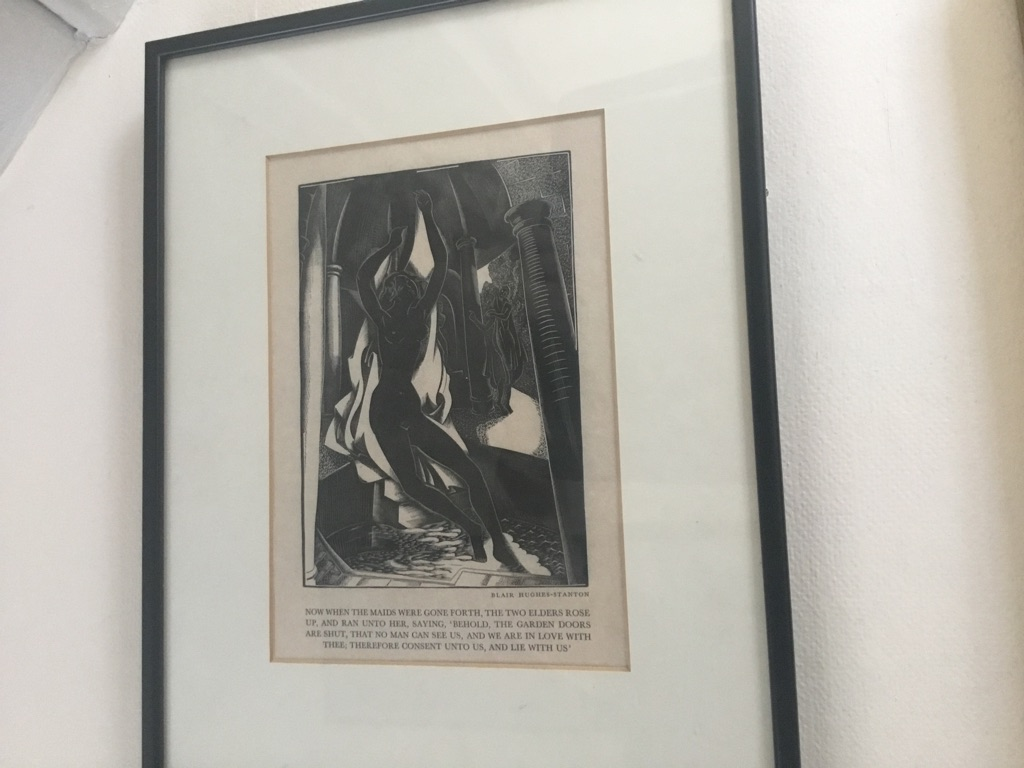 Proof wood engraving by Blair Hughes Stanton cresset press edition 1922