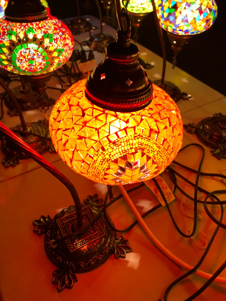 Mosiac Turkish lamp
