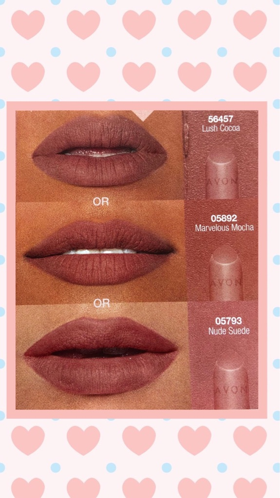 BRAND NEW SEALED SAMPLE OF AVON TRUE COLOUR PERFECTLY MATTE LIPSTICK-MARVELOUS MOCHA-PURSE-TRAVEL-HOLIDAY