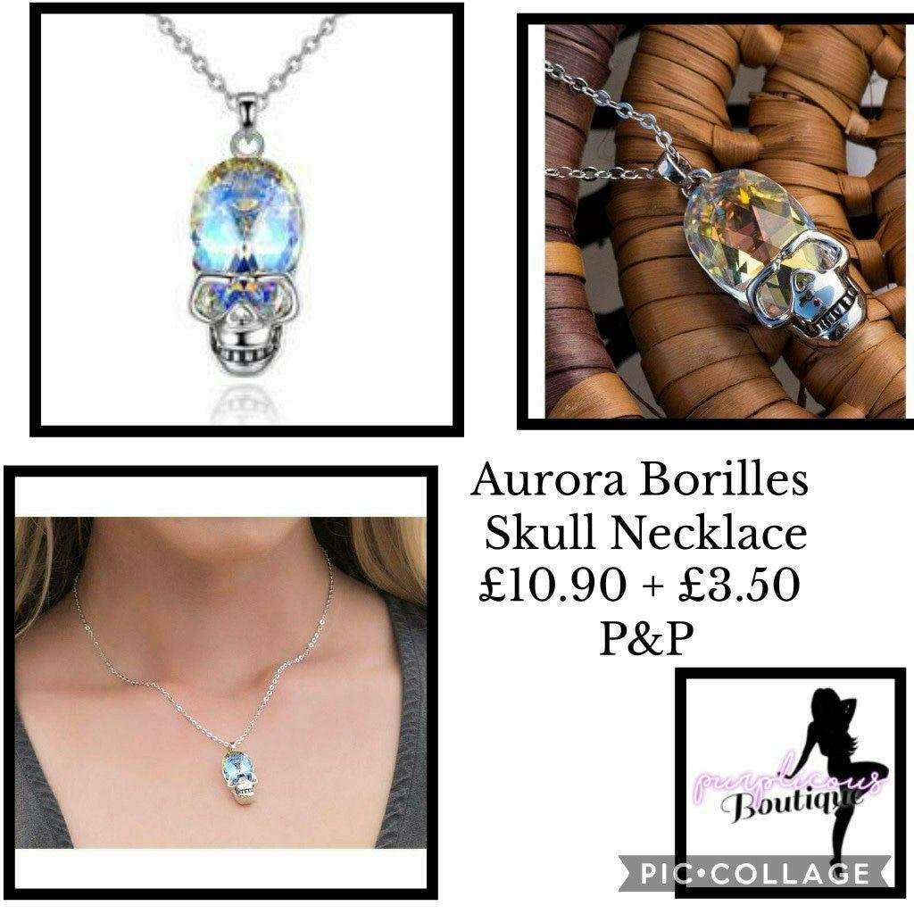 Aurora Borilles Skull Necklace