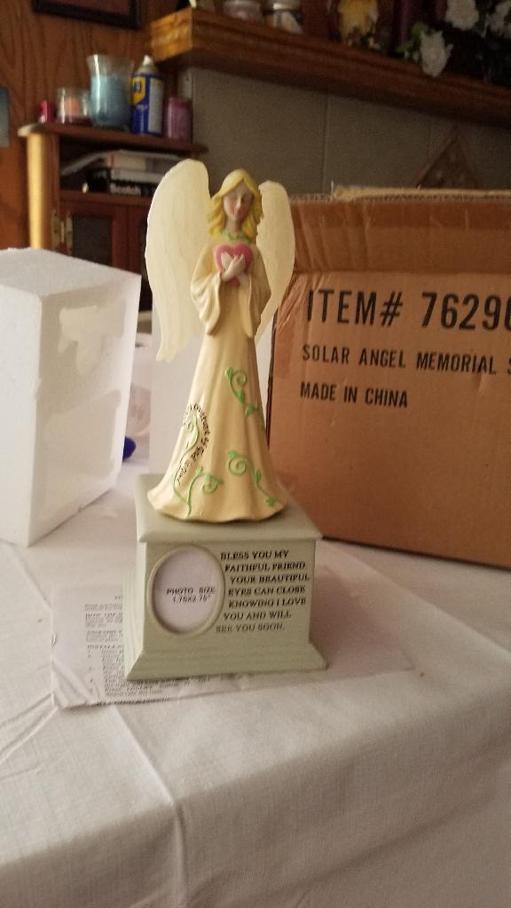 Solar Angel Pet Memorial Stone