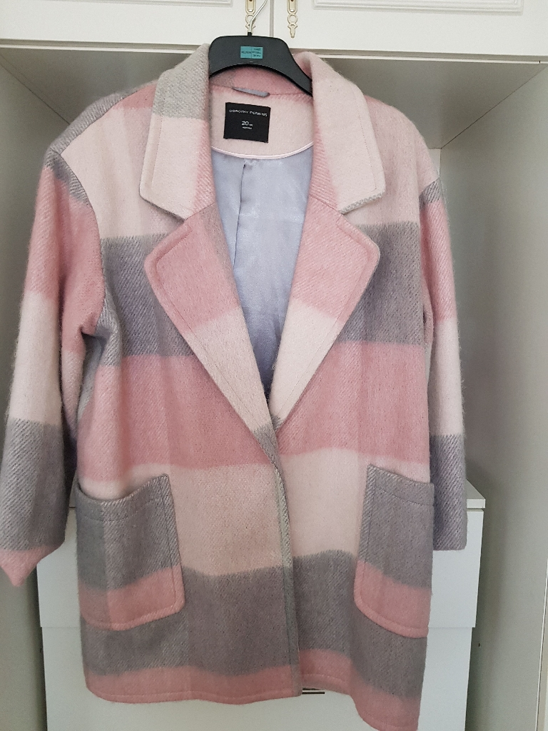 Pink and grey coat