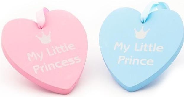 """Chunky """"prince/princess"""" plaques"""