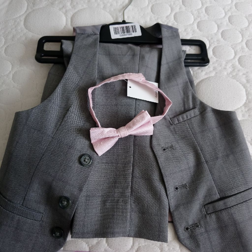 Boys 1.5 - 2 years waistcoat, trousers and bow tie