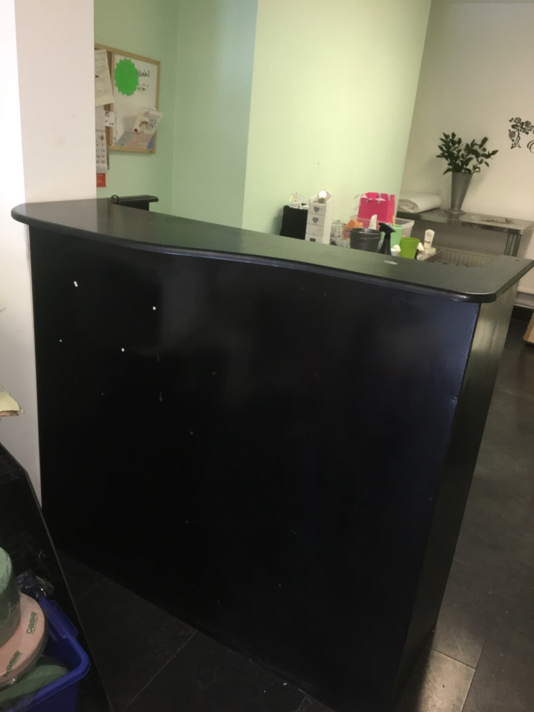 Large Black Varnished Counter