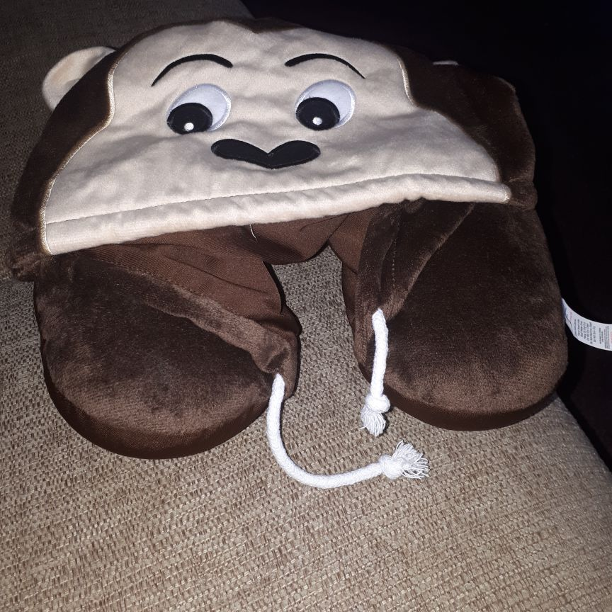 Monkey travel pillow for kids