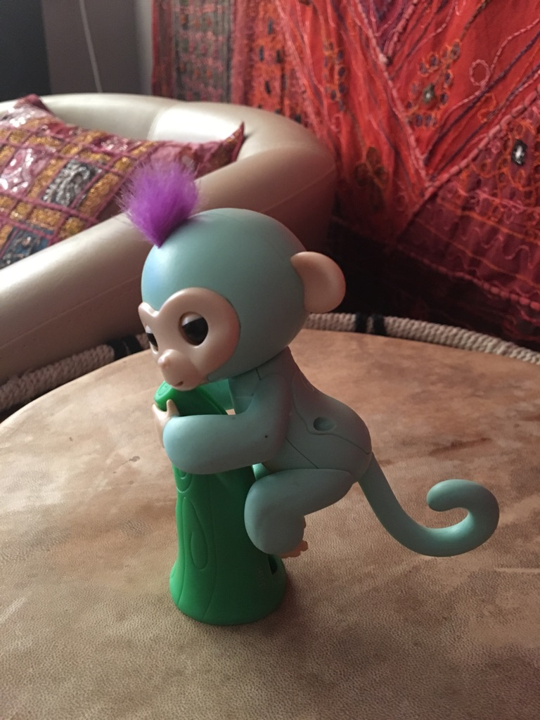 Original WowWee Fingerling Baby monkey Turquoise