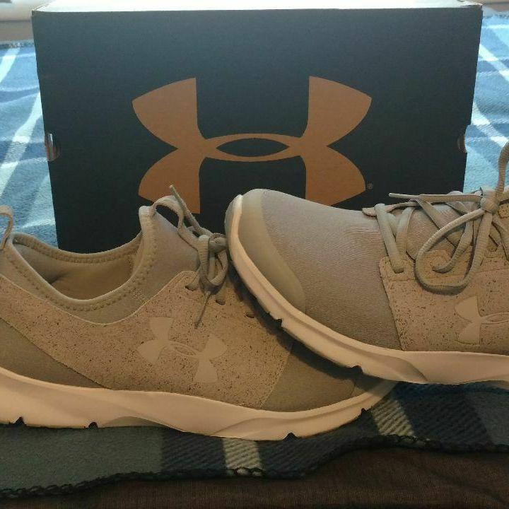 Grey Under Armour shoea