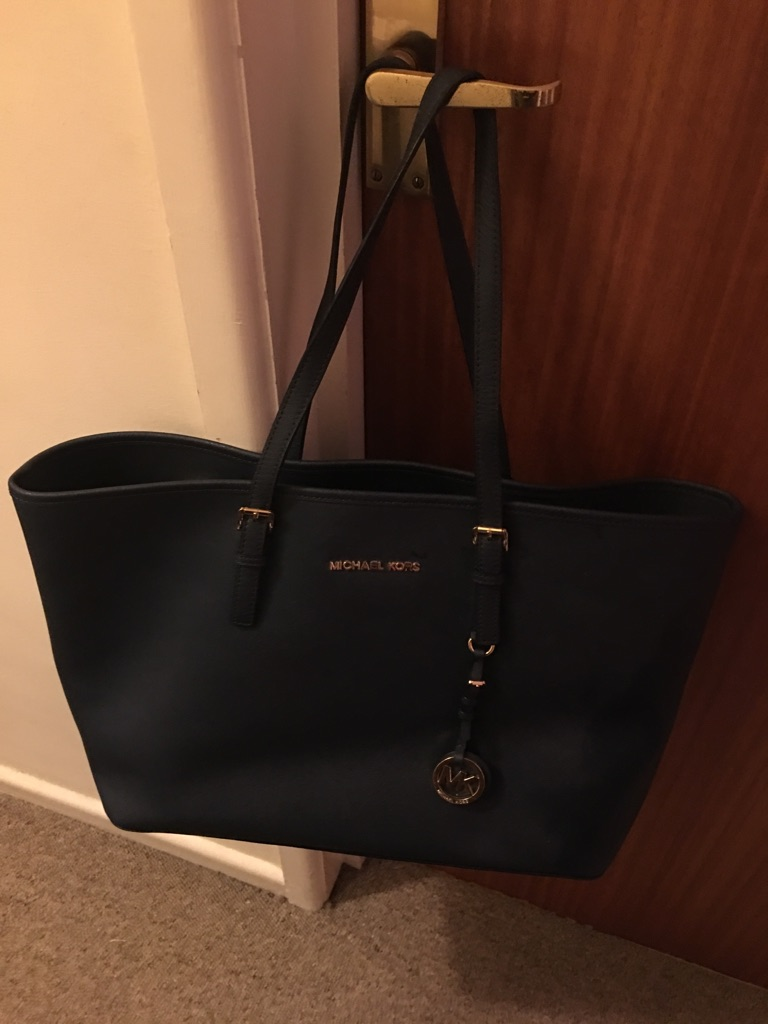 Michael Kors Navy Jet Set Tote Bag