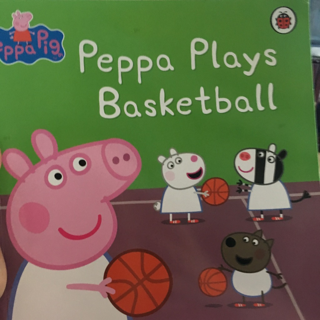 Peppa pig peppa plays basketball book