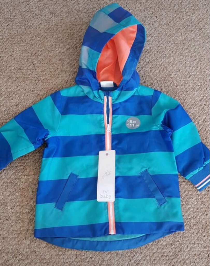 BNWT Boys Light Rain Jacket 6-9 Months