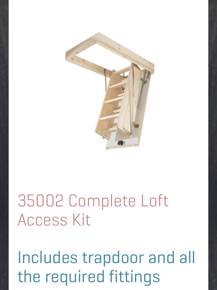 Complete loft ladder kit