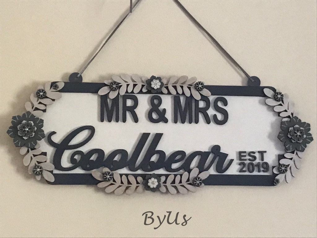 Wedding hanging plaque