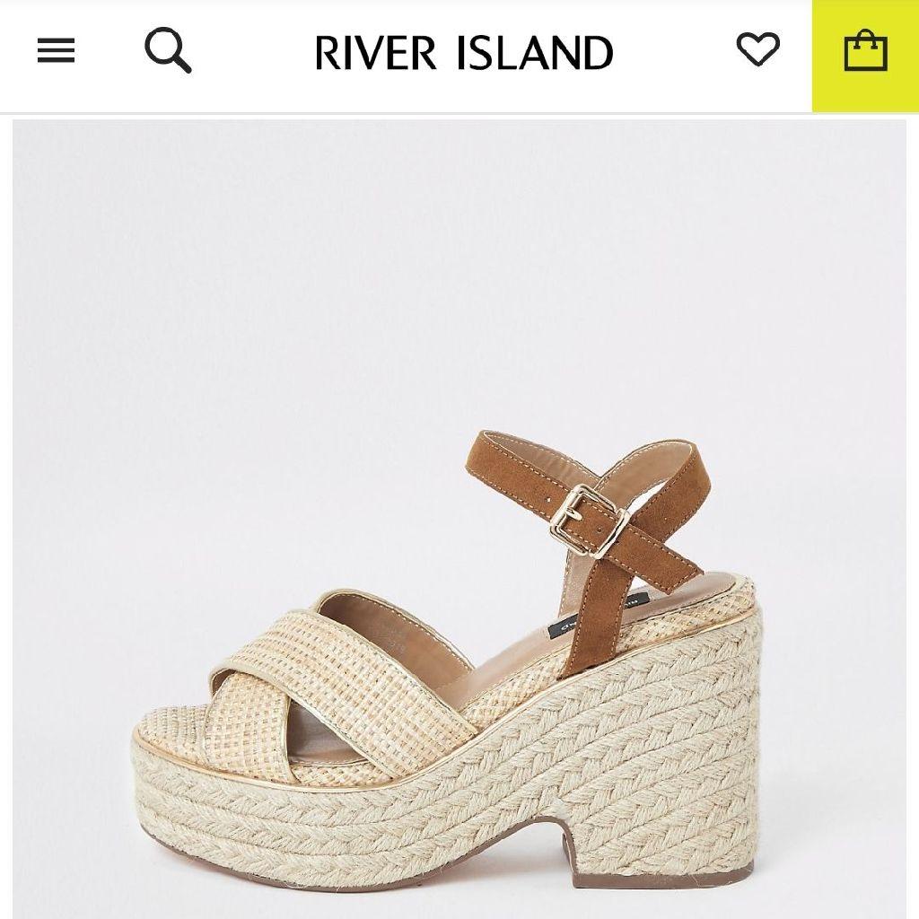 River island wedges