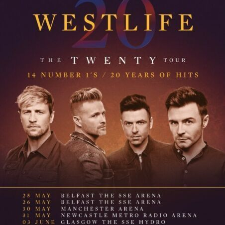 2x Westlife Tickets Liverpool 26th June