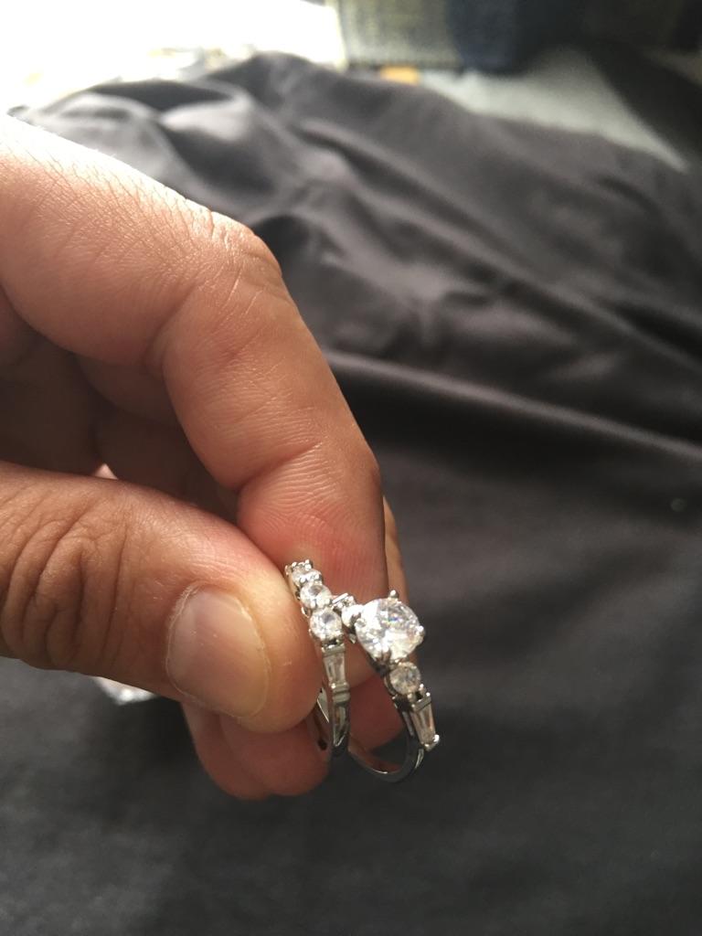 Gemstone ring set size 6