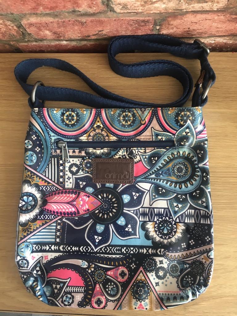 Animal Oilcloth Cross Body Bag