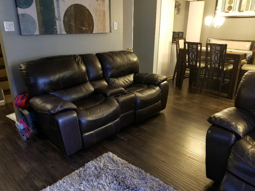 Power sofa and loveseat