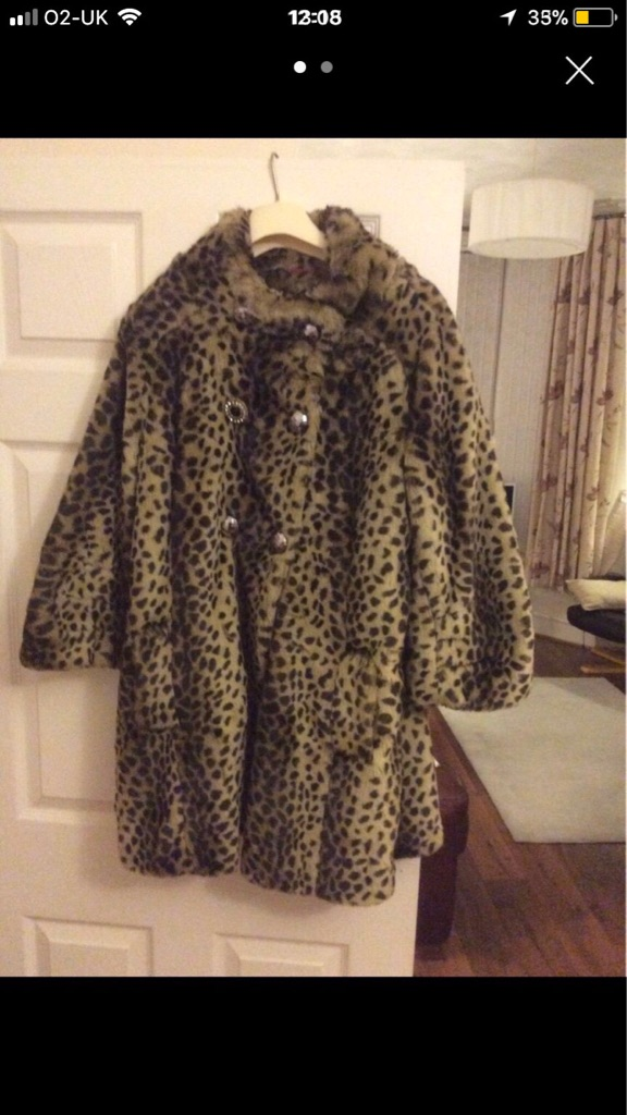 River Island Faux Fur Coat