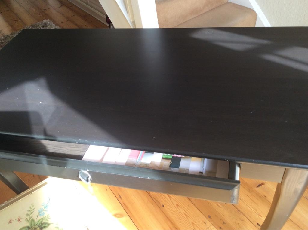 IKEA black dining table