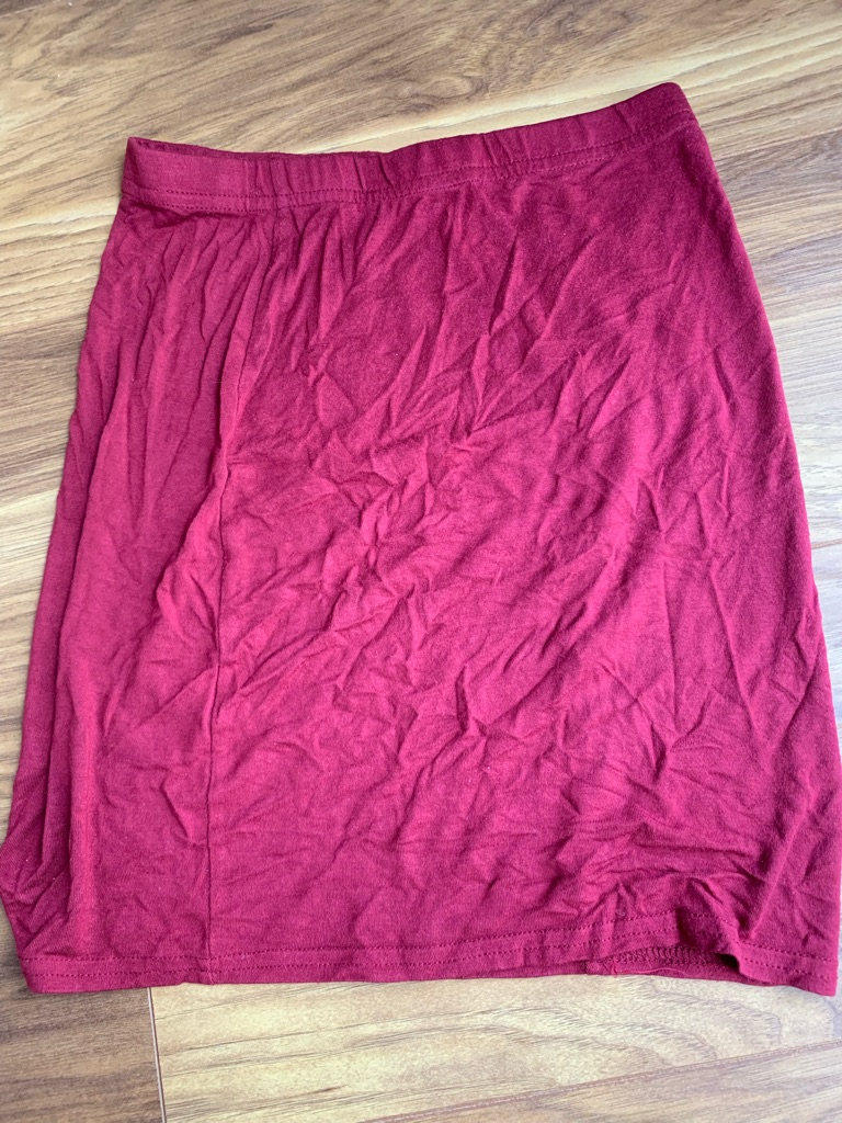 Red mini skirt (size 8)