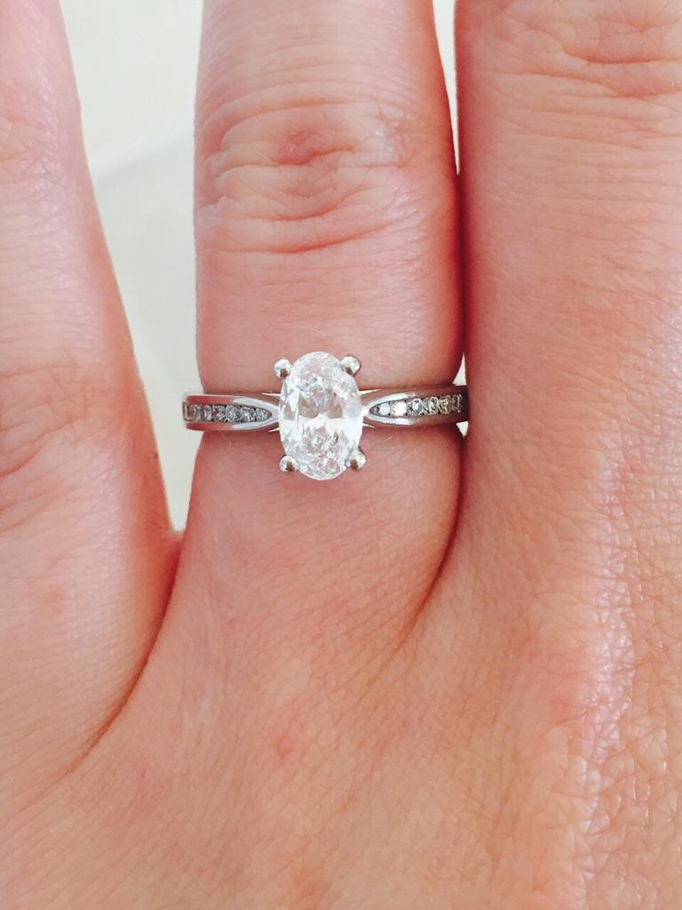 Platinum Diamond Engagement Ring | Village