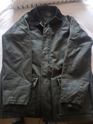 Mans Wax Jacket Green Size L
