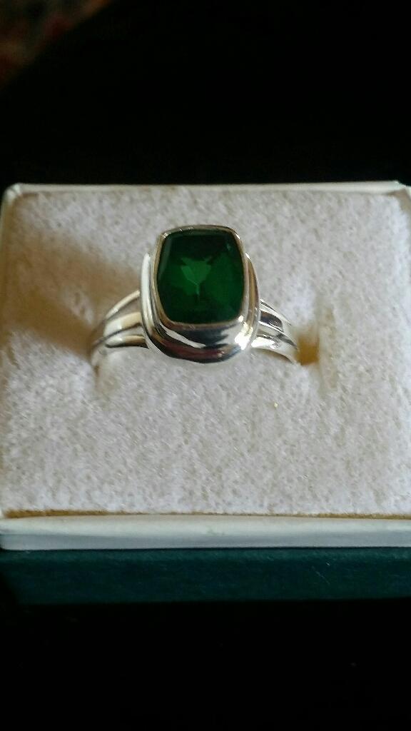 Sterling silver Emerald Quartz ring