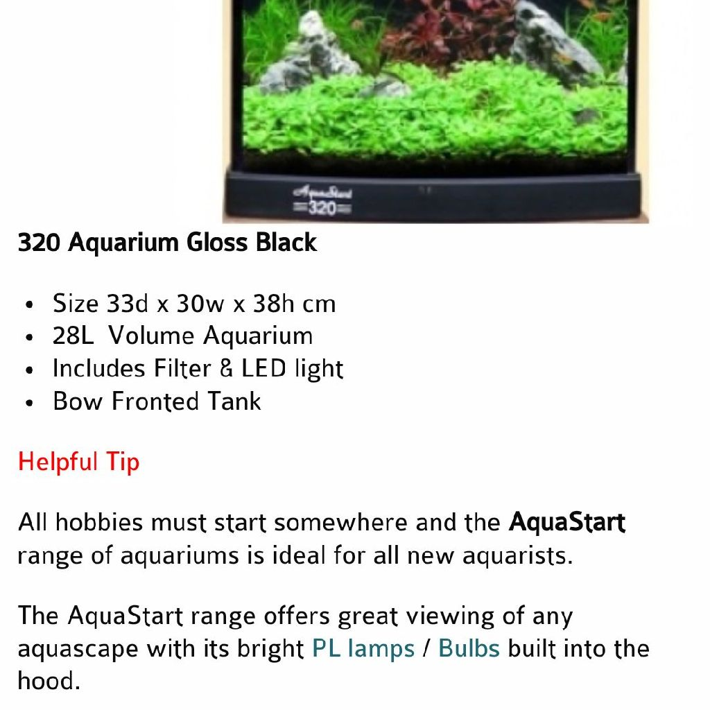 Red Aqua one Fishtank