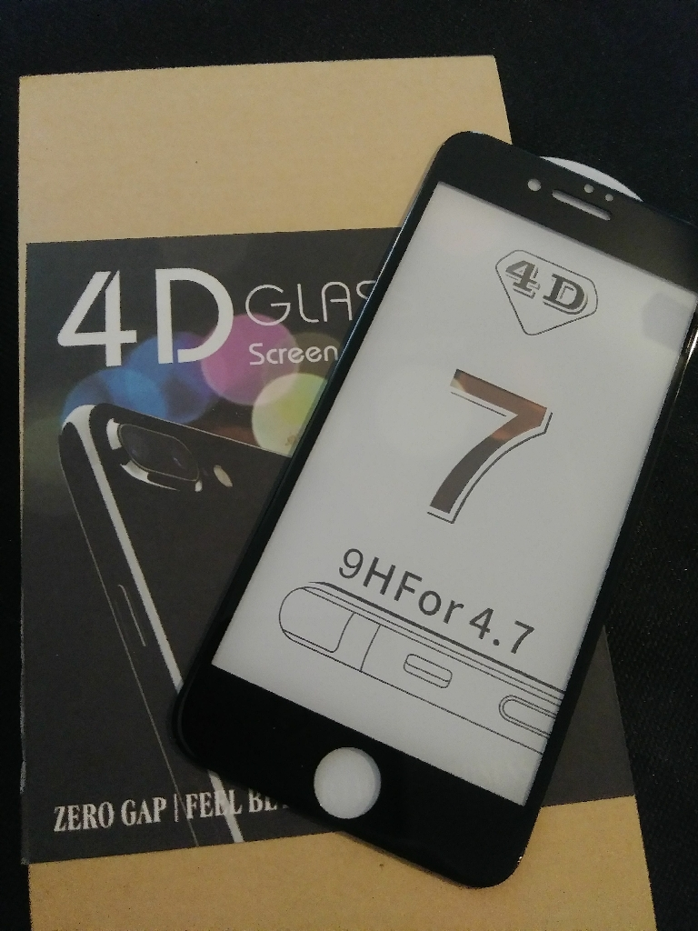 Iphone 7 4D Black Glass Screen Protector