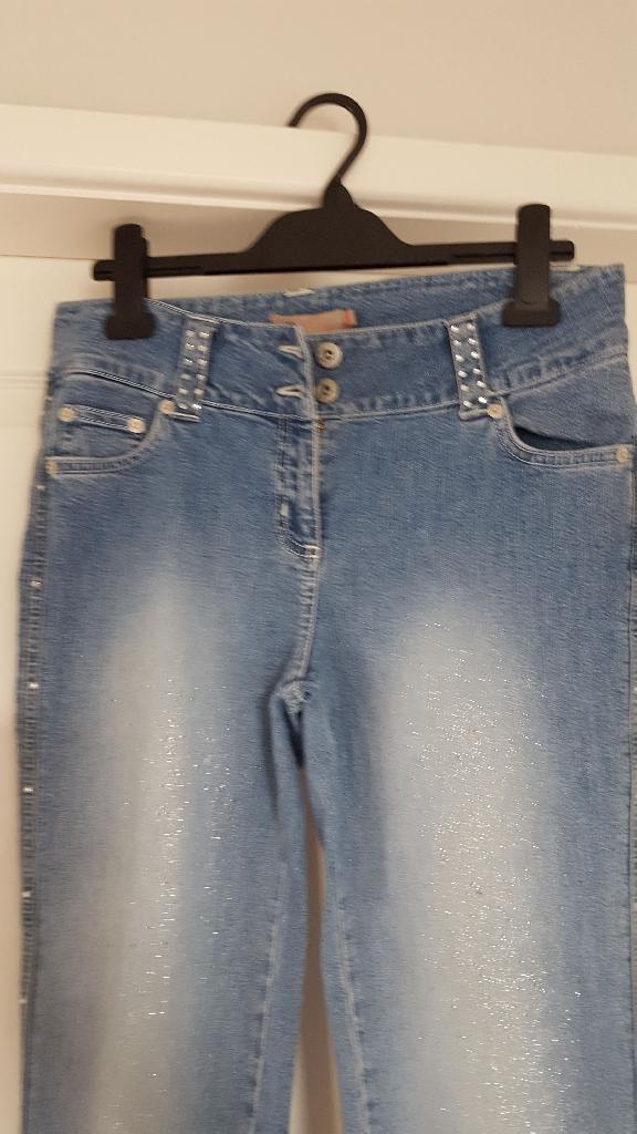 Falmer crop sparkle jeans