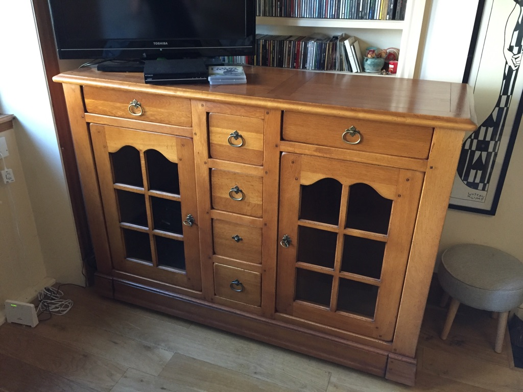 Stunning Solid French Oak Sideboard/ cupboard