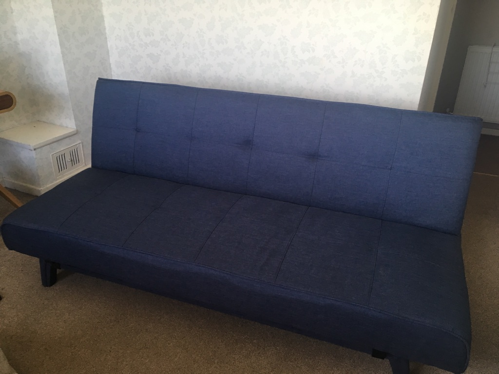 Yoko sofa bed, quartz blue